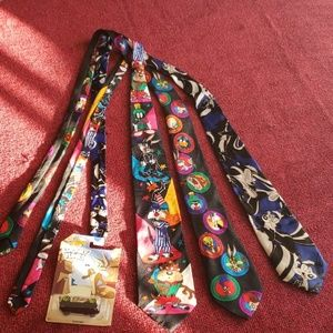 Other - 3 Vintage neck ties and Loony Toons Hot Wheel car